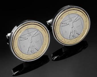 Leonardo Cufflinks - Genuine Italian Da Vinci coins - Free gift box - Perfect present - 3 day delivery option - 100% satisfaction