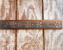 Carved Walnut Cherry Blossom Sign