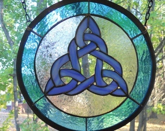 Iridescent Celtic Knot Panel