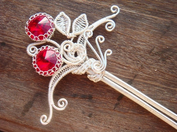 Wire Jewelry Tutorial -  Siam Maharani Hairpin