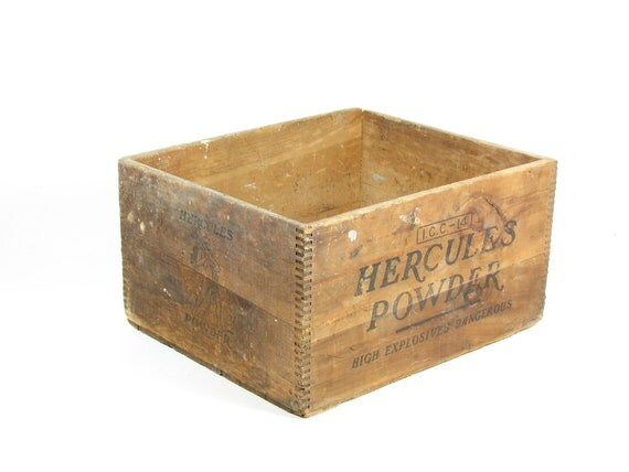 Wooden Crate Ottoman