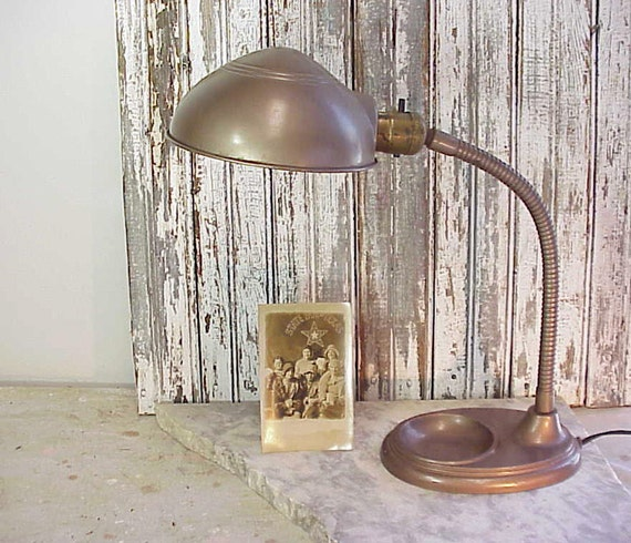Vintage Gooseneck Industrial Office Lamp