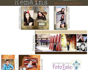 The Memory Remains 4x8 Accordion Album- custom photo templates for photographers on MPixPro Specs