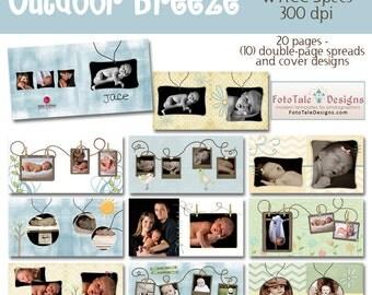 Outdoor Breeze 10x10 Album - Custom Album templates for photographers on WHCC specs