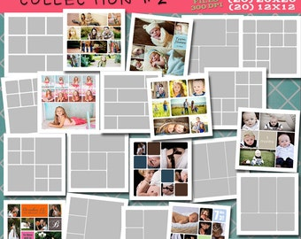SQUARE Storyboard COLLECTION 2 - 60 Custom Photo Templates for Photographers