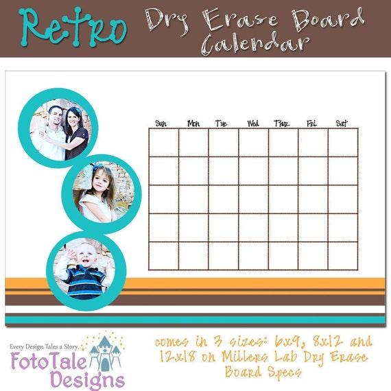 Dry Erase Calendar Template : Items similar to retiring retro custom dry erase board