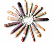 Sea Urchin sticks 15 for 10. wire wrapped sea urchin ocean animal sticks pendants charms crafting supplies seashell purple tan coral wraps