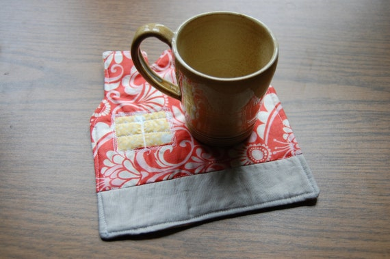 House shaped Quilted Mug Rug