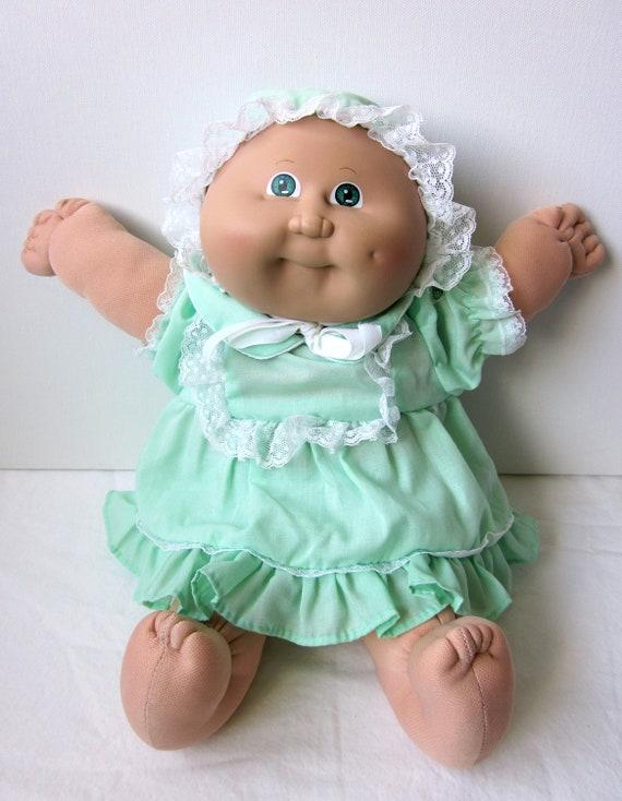 Vintage Cabbage Patch Kid Preemie Doll Blond Green Eyes