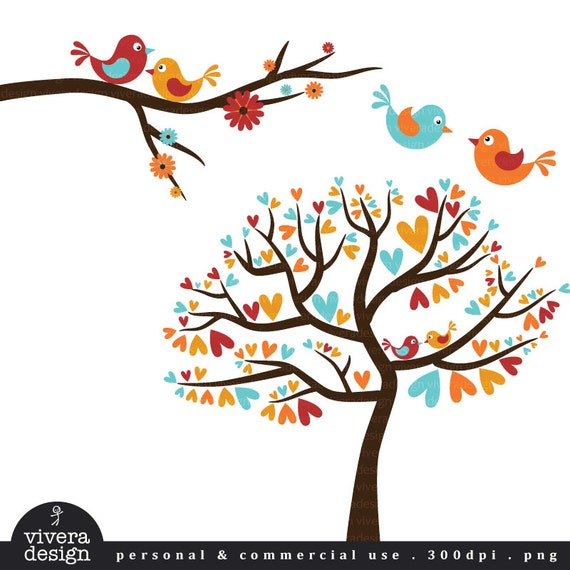 tree with birds clipart - photo #25
