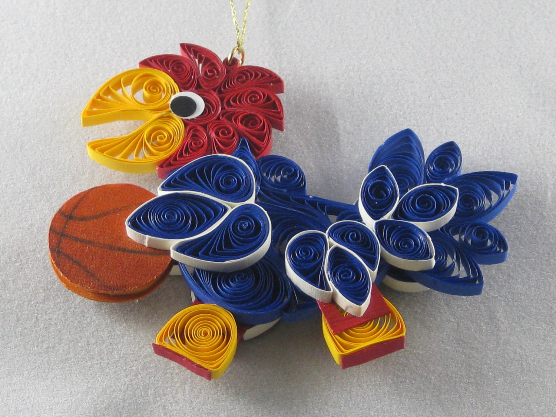 University of Kansas Jayhawk Ornament with by ...