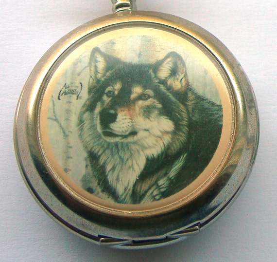 Al Agnew Wildlife Artist Pocketwatch - Lone Wolf