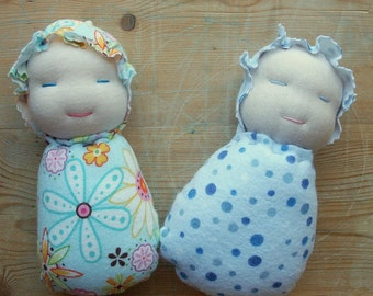 INSTANT PDF Waldorf doll tutorial Wee Ones small Waldorf Inspired baby doll simple sewing pattern and tutorial