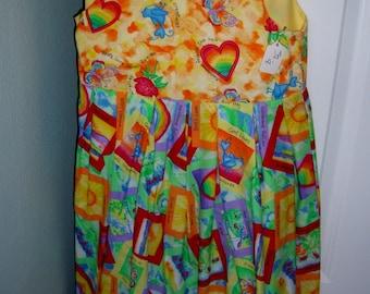 Toddler Girls Summer dress for Church Spring Gods Love Birds Hearts cotton jumper sundress Size 2 clothing apparel