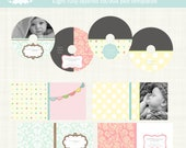 Instant DOWNLOAD Set of Eight CD DVD Labels and Covers Photography Template Photoshop Baby