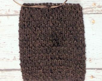 "8"" Crochet Tutu Tube Top - Chocolate"