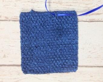 "6"" Crochet Tutu Tube Top - Navy"