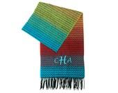 personalized multi colored scarf