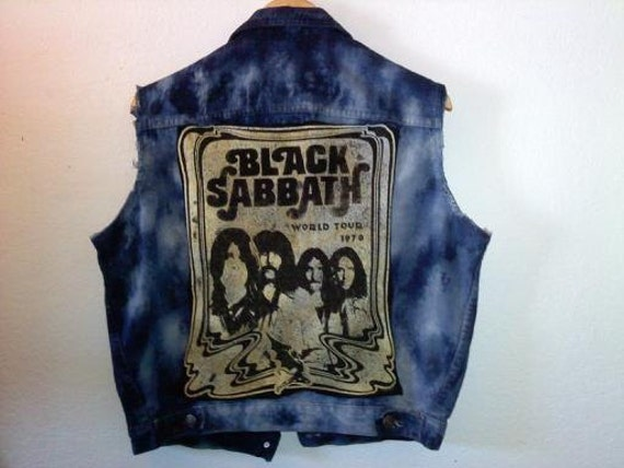 Rock N Roller Jacket Vest / Black Sabbath / Unisex For A Guy OR Girl / 60s 70s 80s / Summer Festival