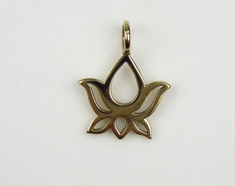 Natural Bronze Lotus Blossom Charm