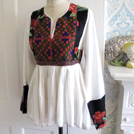 Vintage Indian embroidered folk top