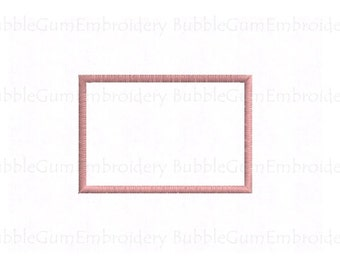 Rectangle Applique Embroidery Design Instant Download