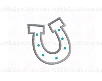 Horseshoe Applique Embroidery Design Instant Download