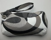 Wristlet, Clutch, Detachable Strap,Repurposed Fabric Sample