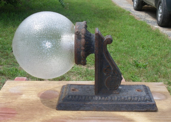 Vintage Cast Iron Outdoor Wall Sconce Porch Entryway Light