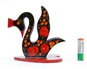 Swan hohloma napkin holder