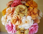 Paper Flower  Wedding Bouquet  Rehearsal bouquet Toss Bouquet All Seasons   Welcome Custom Orders