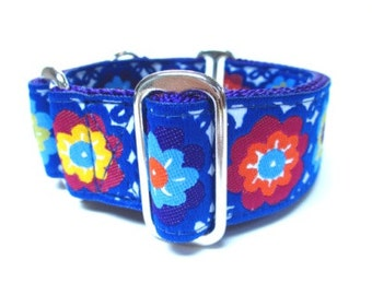 """Houndstown 1.5"""" Royal Flora Unlined Martingale Collar Size Small, Medium, or Large"""