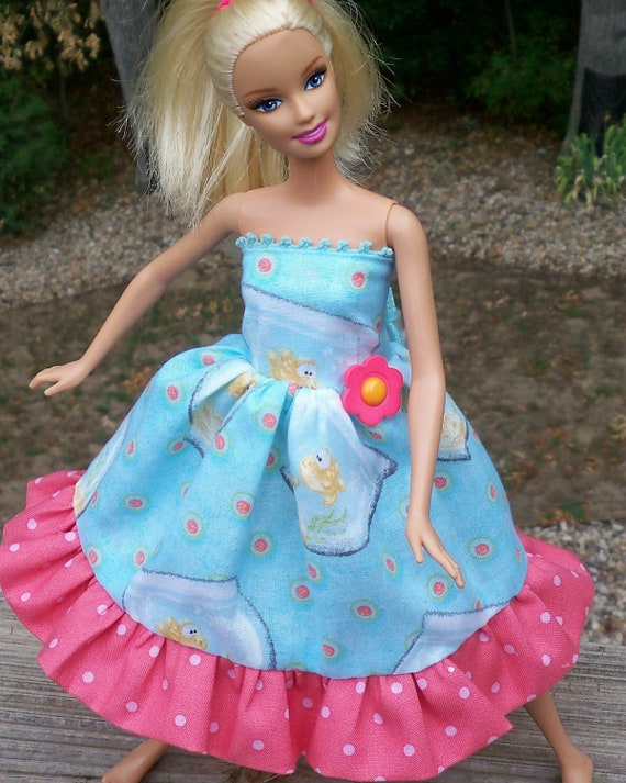 "barbie doll dress ""goldfish bowl"" whimsical"