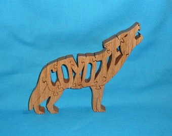 Coyote Handmade Scroll Saw Wooden Puzzle