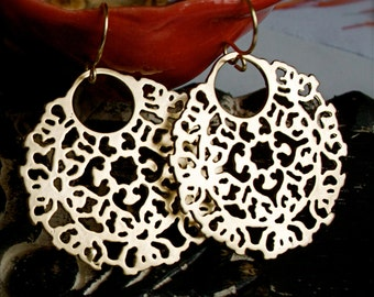 Chandelier Earrings-Bohemian Gold Earrings-Lace-Summer Fashion