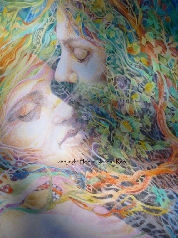 Lovers, beautiful signed fine art print