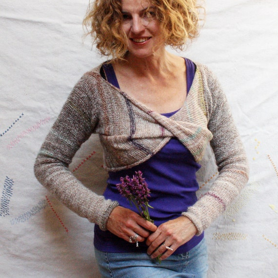 Strawflower Bolero Shrug, infinity with sleeves