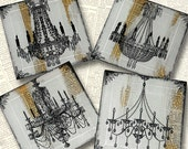 Chandelier Glass Coaster Set from Upcycled Dictionary page book art - WilD WorDz - The Enlightened Word
