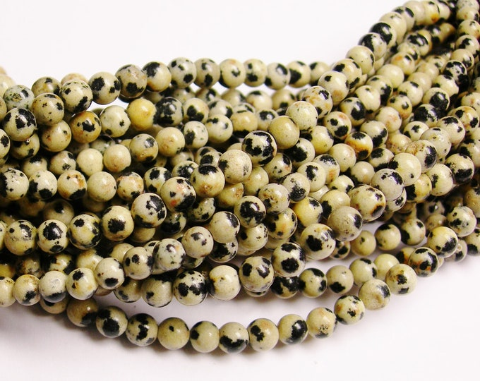 Dalmatian jasper - 4 mm - 96 beads - full strand - A quality - RFG1015