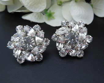 Bridal crystal Earrings Rhinestone Bridal Earrings swarovski  Stud Earrings Statement Bridal Earrings Wedding Rhinestone Earrings NATALEE