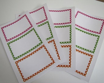 Labels for Stamping-Gift Wrap-Scrapbooking Embellishment-Home Decor-Journaling Spot-Set of 12