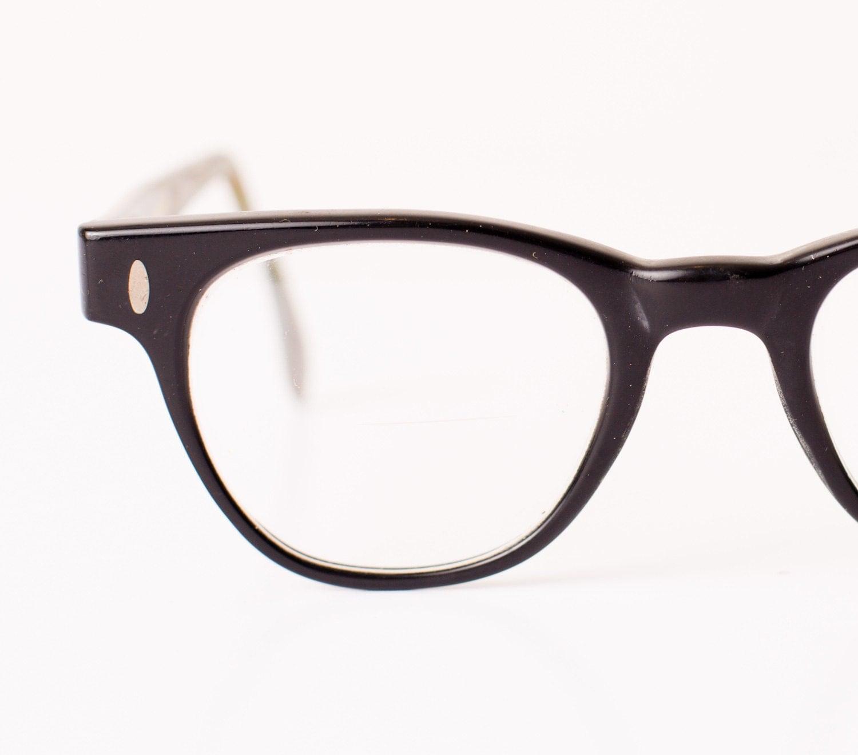 Black Frame Hipster Glasses : Vintage Hipster Glasses Thick Black Horn Rimmed Frame Geek