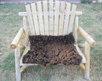 Felted Wool Pelt - Natural Brown - 26 x 32