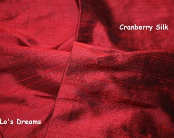 Designer - SLIP-ON - Lamp Cord Cover - 9 ft Cranberry Red Silk - LoLos Dreams