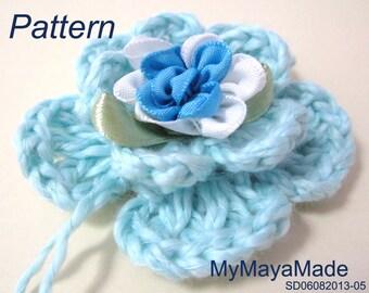 Crochet Pattern - Mint Green Flower Crochet Set - Barefoot Sandals&Headband PDF Pattern - SD06092013-05 - Instant Download