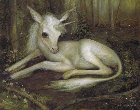 "8x10 print ""The Unicorn"""