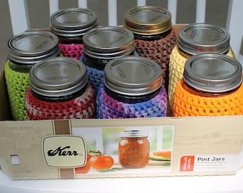 A Case of Mason Jar Cozies - 12 Cozies - Buy 10 Cozies- Get 2 Free!