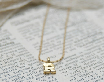 Dainty Gold Initial Charm Necklace By Inspired Jewelry Designs