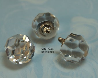 Vintage Swarovski Clear Crystal Disco Pendant 14mm (2)