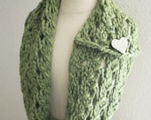 Knitting Pattern / Cowl Scarf Chunky Lace / Margeaux / PDF Digital Delivery